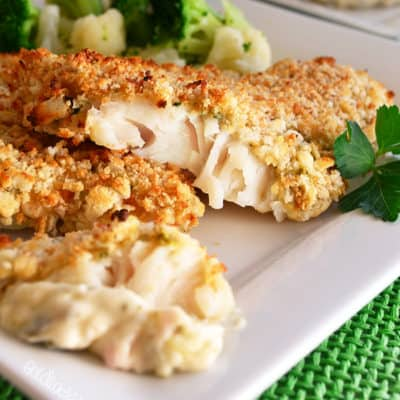 Skinny Oven-Fried Fish with Tartar Sauce SP