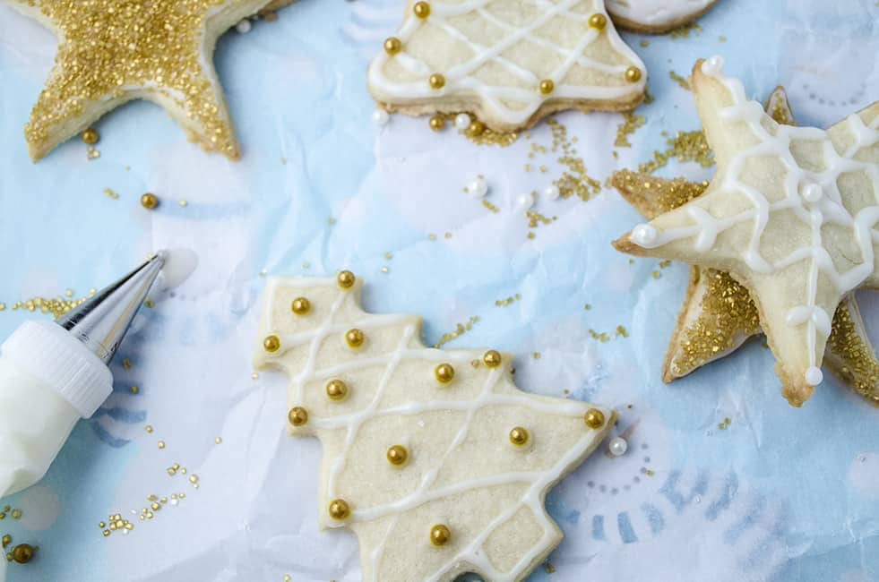 Ultimate Butter Cookies with Cream Cheese frosting