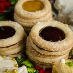 Jelly Centers Christmas cookies made with Ultimate Butter cookie dough