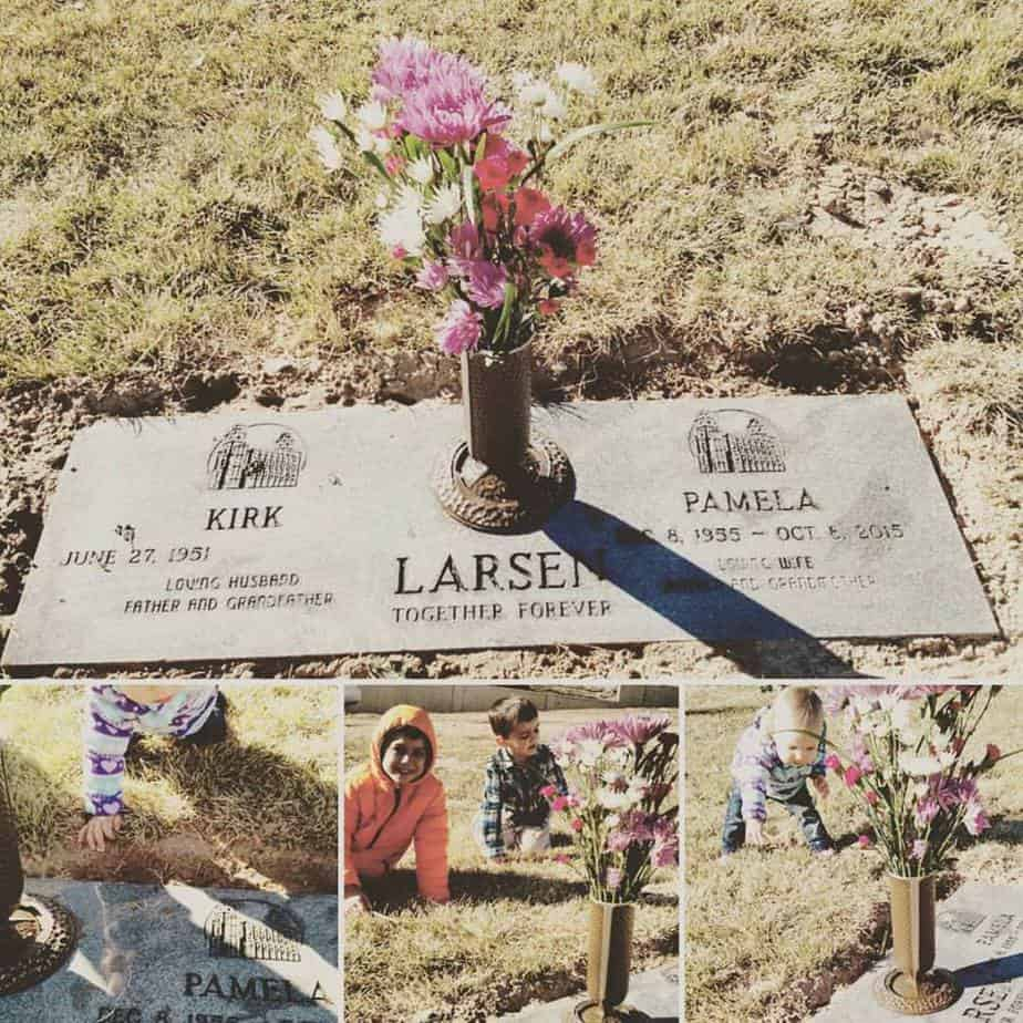 First view of Mom's headstone