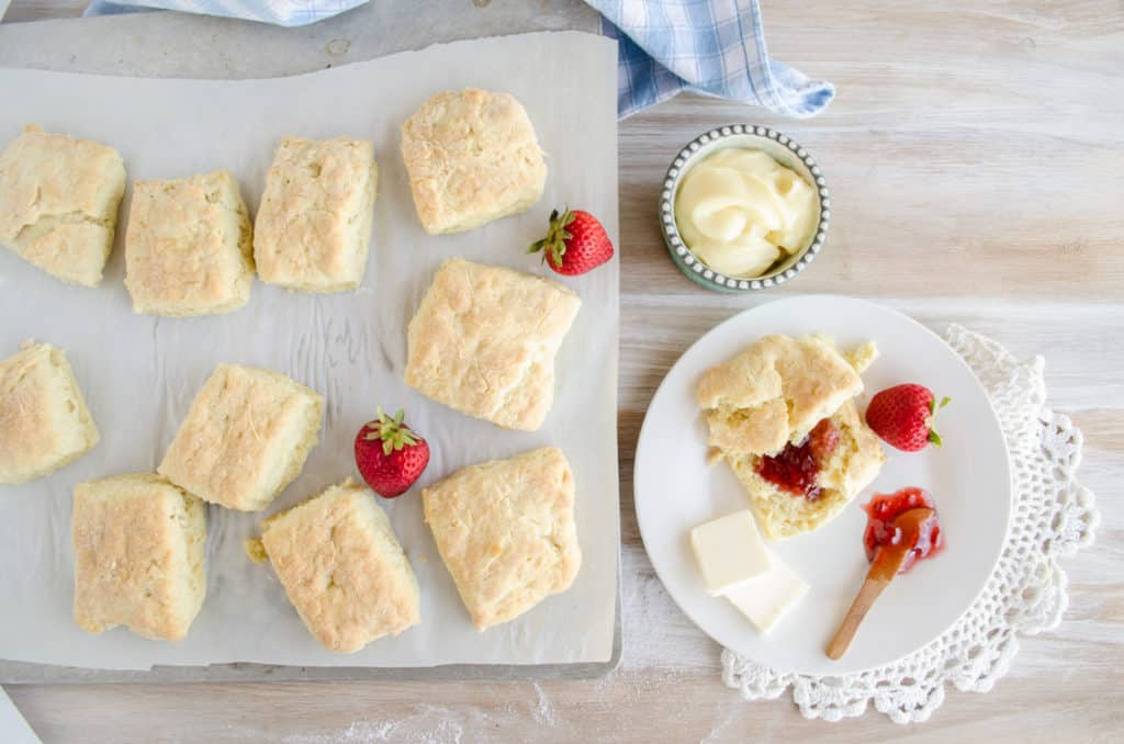 Quick Fluffy Coconut Biscuits fresh out of the oven.