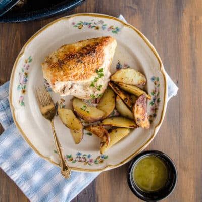 Weeknight Roasted Chicken Breast with Red Potatoes