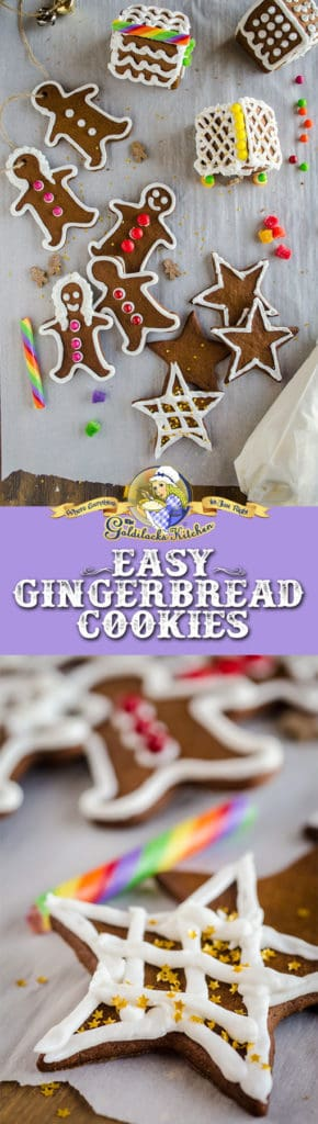 The perfect recipe for cut out gingerbread cookies you plan to decorate or hang on a Christmas Tree, these easy Gingerbread Cookies bake up crisp, sturdy and perfectly formed- no blobby or deformed cut out shapes!