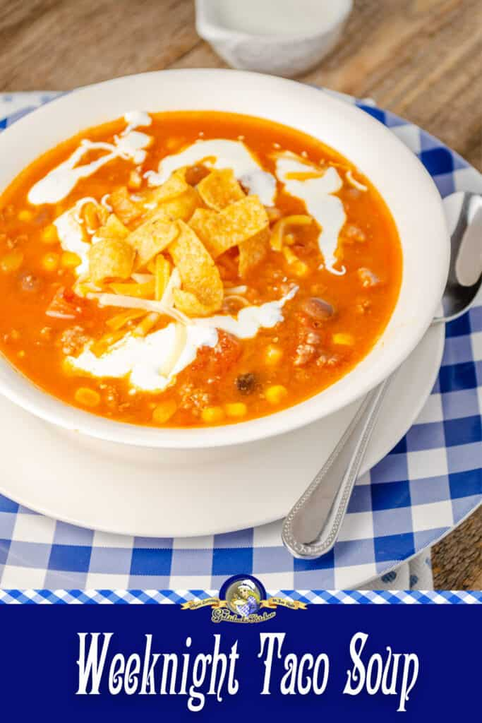 You can't go wrong with this recipe for Weeknight Taco Soup. Perfectly simple to make and absolutely delicious down to the last bite. Check your pantry; most likely you already have all the ingredients you need!