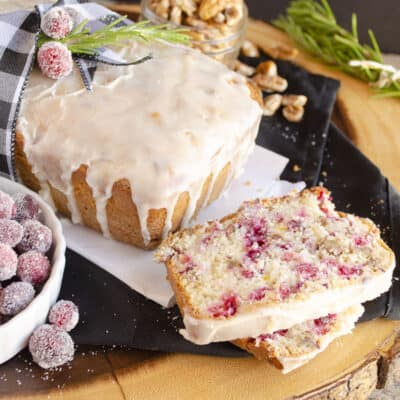 Gift Frosted Cranberry Nut Bread this season to spread joy
