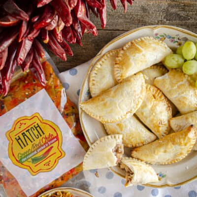 The best Baked Empanadas with Hatch Chile Beef Filling