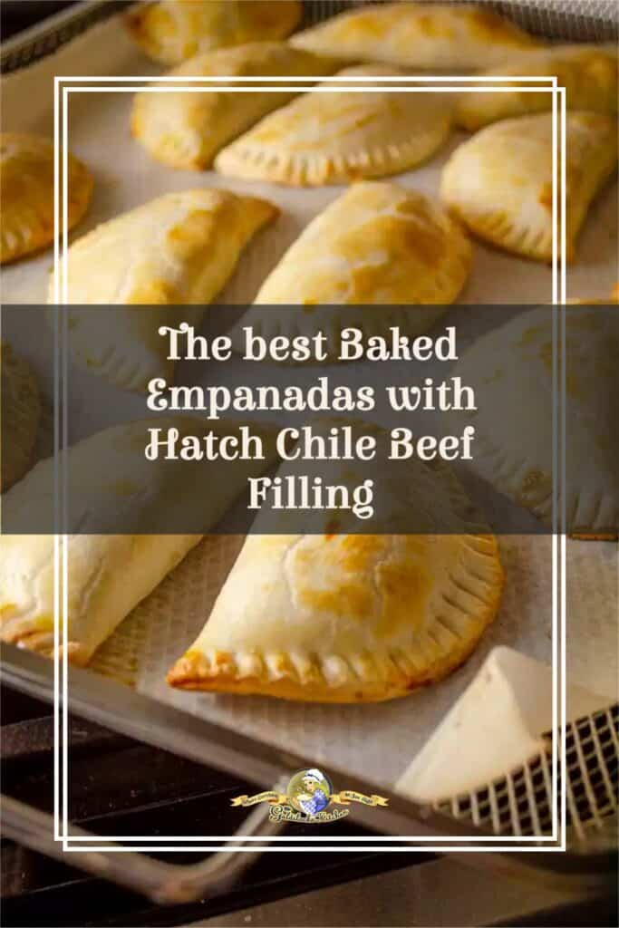 This delicious Hispanic heritage recipe for Baked Empanadas with Hatch Chile Beef Filling checks all the boxes for flavor and fun! Ground beef is simmered with Hatch Green Chile, piñon nuts, raisins, tomatoes and sweet savory spices. From The Goldilocks Kitchen.