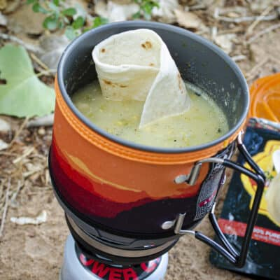 Green Chile Chicken Stew- Quick and Easy Backpacking Meal Edition